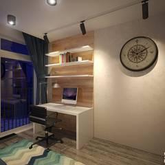 Двухуровневая квартира в современном стиле: Рабочие кабинеты в . Автор – Art-line Design