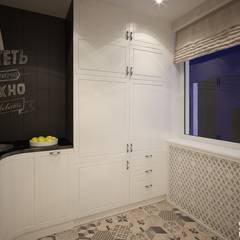 Двухуровневая квартира в современном стиле: Встроенные кухни в . Автор – Art-line Design