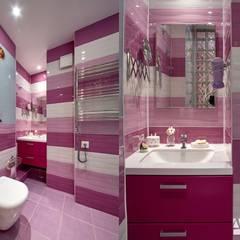 """Квартира-студия """"с лиловым акцентом"""" Ванная в средиземноморском стиле от Art-line Design Средиземноморский"""