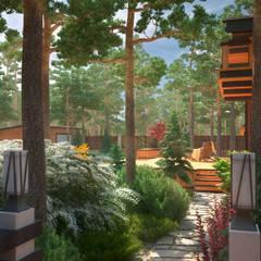 Утро в сосновом лесу: Сады в . Автор – Мастерская ландшафта Дмитрия Бородавкина