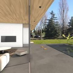 Maison contemporaine de luxe concept dedans / dehors: Fenêtres de style  par Atelier SCENARIO,