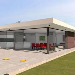Maison contemporaine aux lignes épurées: Maison individuelle de style  par Atelier SCENARIO