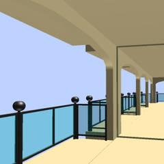 Balconi: Balcone in stile  di Ing. Edoardo Contrafatto