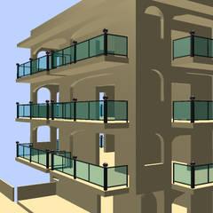 Prospetti: Balcone in stile  di Ing. Edoardo Contrafatto