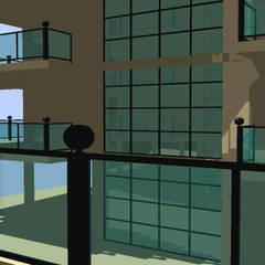 Prospetti - Corpo scala: Condominio in stile  di Ing. Edoardo Contrafatto