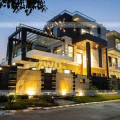 Known for its grandeur, marble work, Interior Designers in Gurgoan:  Terrace by 7WD Interior Design Studio,