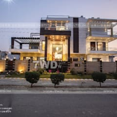 Known for its grandeur, marble work, Interior Designers in Gurgoan:  Walls by 7WD Interior Design Studio