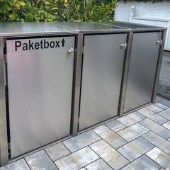 Mülltonnenboxen @boxx von design@garten, pflegeleicht - aus Edelstahl und HPL:  Vorgarten von design@garten - Alfred Hart -  Design Gartenhaus und Balkonschraenke aus Augsburg