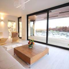 Dab dwelling :  Balcony by Dab Den Ltd, Modern Wood Wood effect