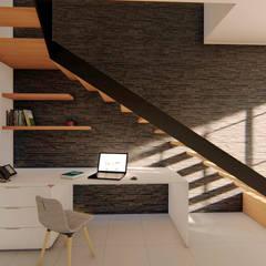 CASA SANTA CATARINA: Escaleras de estilo  por GóMEZ arquitectos