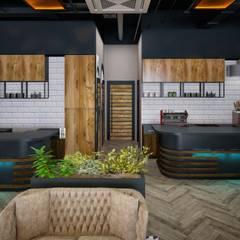 VOGUE MİMARLIK ATÖLYESİ – AVRUPA KONUTLARI TEM NARGILE KAFE:  tarz Bar & kulüpler