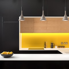 Lemon Tree House:  Built-in kitchens by Shape London