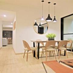 Espectacular Apartamento Club House 3 Alcobas 3 Baños 2 Garajes : Comedores de estilo  por AlejandroBroker