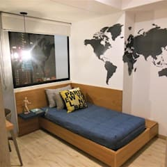 Habitación Juvenil: Habitaciones infantiles de estilo  por AlejandroBroker