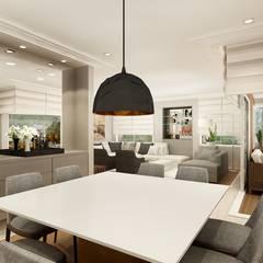 Sala de jantar: Salas de jantar  por Liliana Zenaro Interiores
