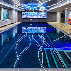 Pool and Saunarium for Novotel London - Canary Wharf:  Hotels by London Swimming Pool Company