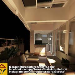 General Renovation of Duplex Penthouse/Reforma Geral de Cobertura Duplex: Jardins de inverno  por TC Arquitetura por Tereza Costa