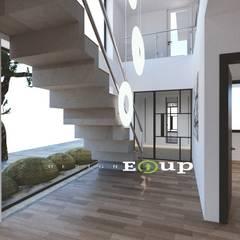 강원도 홍천읍 전원주택 57평 신축: 디자인 이업의  복도 & 현관