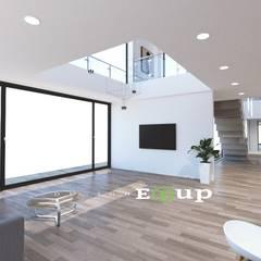 강원도 홍천읍 전원주택 57평 신축: 디자인 이업의  거실,모던 세라믹