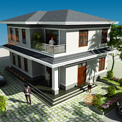 Oficinas y Tiendas de estilo  por CÔNG TY CỔ PHẦN XD&TM KIẾN TẠO VIỆT