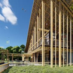 HOUSE IN THE GARDEN:  บ้านและที่อยู่อาศัย โดย GRID ARCHITECT THAILAND,