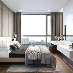 THIẾT KẾ HIỆN ĐẠI TRONG CĂN HỘ VINHOMES CENTRAL PARK:  Phòng ngủ by ICON INTERIOR