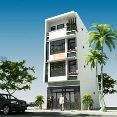 CÔNG TY CỔ PHẦN XD&TM KIẾN TẠO VIỆTが手掛けた二世帯住宅