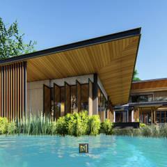 Modern Tropical :  บ้านและที่อยู่อาศัย by GRID ARCHITECT THAILAND