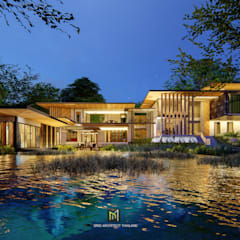 Casas  por GRID ARCHITECT THAILAND