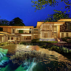 Casas pequenas  por GRID ARCHITECT THAILAND