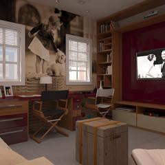 Media room by 5CINQUE ARQUITETURA LTDA