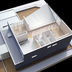 ねじれ屋根の家: PODAが手掛けた屋根です。