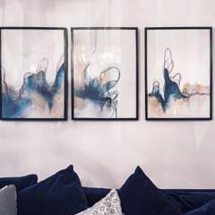 salon z kominkiem: styl , w kategorii Ściany zaprojektowany przez Pracownia Zew