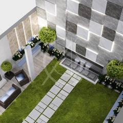 Modern Luxury Indoor Garden Design:  Garage/shed by Comelite Architecture, Structure and Interior Design , Modern Granite