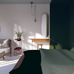 Small bedroom by Pracownia Zew