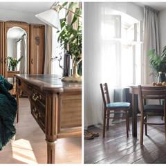 przedwojenna kamienica: styl , w kategorii Domowe biuro i gabinet zaprojektowany przez Pracownia Zew