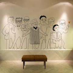 BEN & FRANK ARTZ: Oficinas y tiendas de estilo  por Simple Mob sa de cv