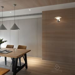 اتاق غذاخوری by 極簡室內設計 Simple Design Studio