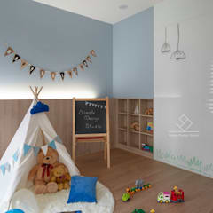 Nursery/kid's room by 極簡室內設計 Simple Design Studio