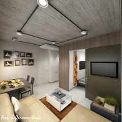 Apartamento Tipo Loft: Casas pequeñas de estilo  por Joya Arquitecto, Industrial