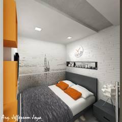 Apartamento Tipo Loft: Casas pequeñas de estilo  por Joya Arquitecto