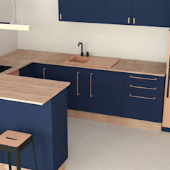Small kitchens by Joëlle Bourquin, Scandinavian Solid Wood Multicolored