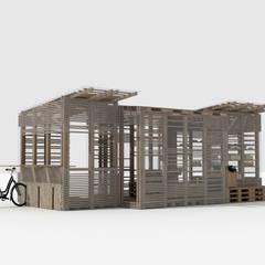 Re-Use: Terrasse de style  par Joëlle Bourquin,