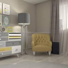 Mint Studio – BEBEK ODASI:  tarz Küçük Yatak Odası