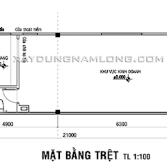 Nhà ống 3 tầng tân cổ điển:  Nhà by Thiết kế nhà đẹp ở Hồ Chí Minh, Hiện đại