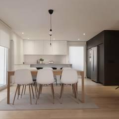 Reforma integral de piso en barrio de la Estrella: Salones de estilo  de Reformmia , Moderno
