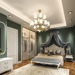 KADIGİL MİMARLIK – Şerefhan villa iç mekan tasarımı:  tarz Yatak Odası