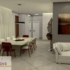 Salas e Cozinha Integrada Salas de jantar ecléticas por GNS | Arquitetura & Interiores Eclético