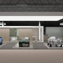 BEYOND THE TIME - stand Porsche d'epoca: Allestimenti fieristici in stile  di Daniele Piazzola architetto