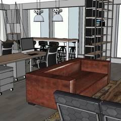 Oficina 301: Estudios y biblioteca de estilo  por HL interiorismo